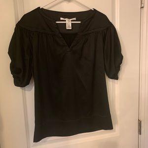 Diane Von Furstenberg black silk blouse, size 2